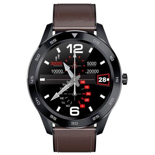 Умные часы Smarterra SmartLife THOR черный/коричневый