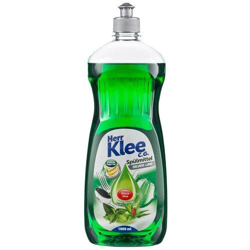 Herr Klee Средство для мытья посуды Mint & aloe vera, 1 л средство для мытья посуды herr klee лимон и ромашка 1 л