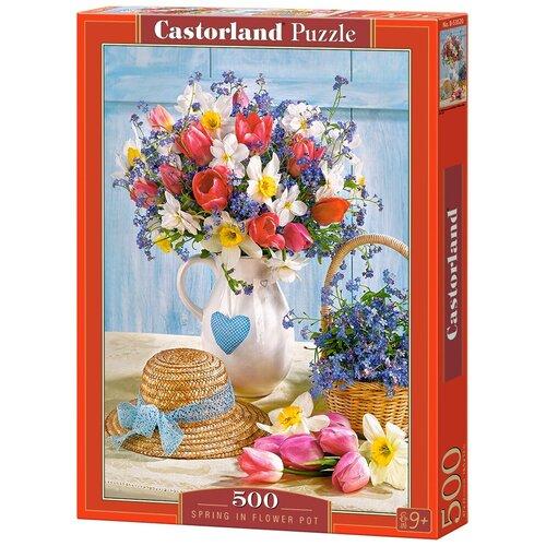 Пазл Castorland Spring in Flower Pot (B-53520), 500 дет. пазл castorland pup in pink flowers b 52233 500 дет