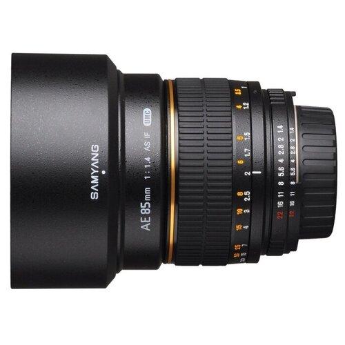 Фото - Объектив Samyang 85mm f/1.4 AS IF UMC AE Nikon F объектив samyang 85mm f 1 8 ed umc cs fujifilm x