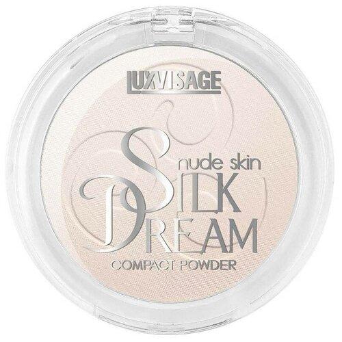LUXVISAGE пудра компактная Silk Dream Nude Skin №01 Фарфоровый luxvisage шелковистые румяна silk dream терракот 5