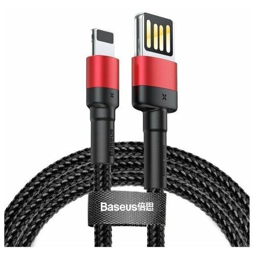 Кабель Baseus Cafule special edition USB - Lightning (CALKLF) 1 м, черный/красный кабель baseus couple magnetic lightning usb calfd 1 м синий красный