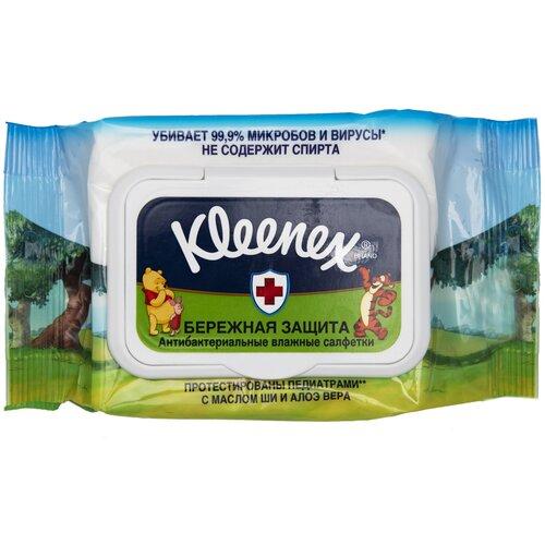 Влажные салфетки Kleenex Disney Бережная защита антибактериальные, 40 шт.