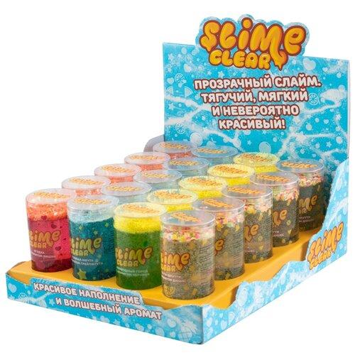 Лизун SLIME Шоу-бокс Clear Slime (S130-37) разноцветный