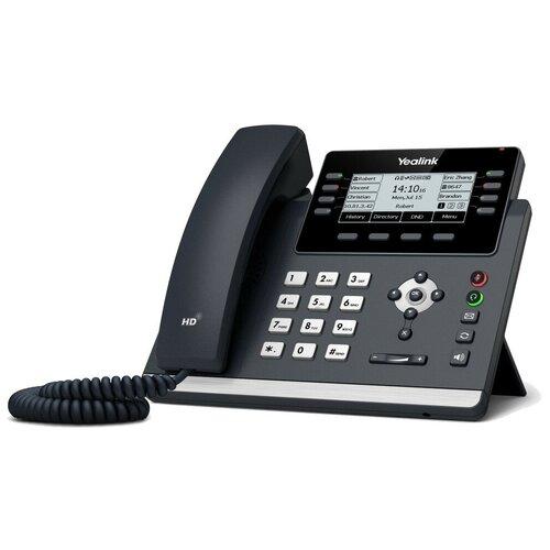 VoIP-телефон Yealink SIP-T43U черный voip телефон yealink sip t27g черный