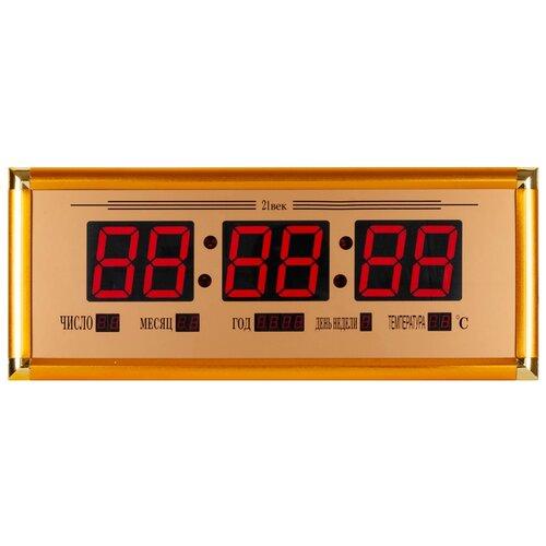 Часы настенные электронные 21 Век 03 ОТ BM золотой