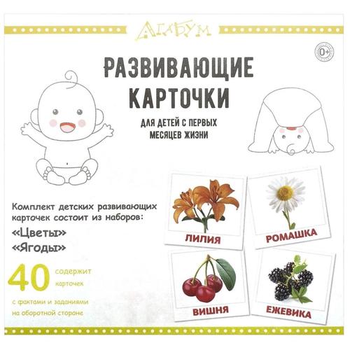 Фото - Набор карточек Агабум Цветы. Ягоды 40 шт. набор карточек агабум цветы 20 шт