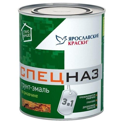ЯРОСЛАВСКИЕ КРАСКИ СПЕЦНАЗ грунт-эмаль по ржавчине, профессиональный, зеленый RAL 6005 (0,8кг)