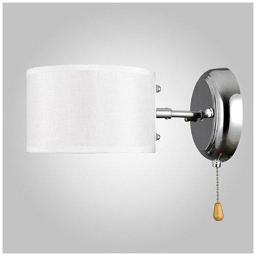 Бра Eurosvet Nikolas 70045/1 хром, E14, 40 Вт, кол-во ламп: 1 шт., цвет арматуры: хромовый, цвет плафона: белый бра eurosvet 70045 1 хром