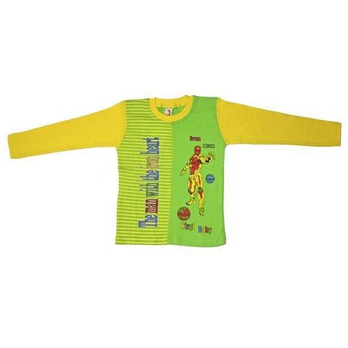 Фото - Лонгслив Kirpi, размер 128, желтый/светло-зеленый свитшот infunt размер 128 светло зеленый
