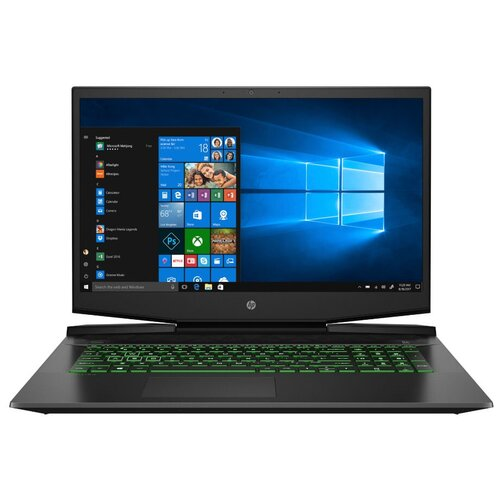 "Ноутбук HP PAVILION 17-cd1051ur (Intel Core i5 10300H 2500MHz/17.3""/1920x1080/16GB/512GB SSD/NVIDIA GeForce GTX 1650 4GB/Windows 10 Home) 22R63EA темно-серый/зеленый хромированный логотип"
