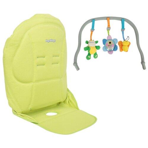чехол kit options tatamia azzurro Комплект для стульчика Peg-Perego чехол Kit Tatamia и дуга с игрушками, verde
