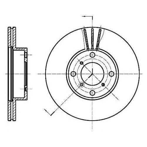 Тормозной диск Roadhouse 6950.10 для Suzuki Baleno, Liana