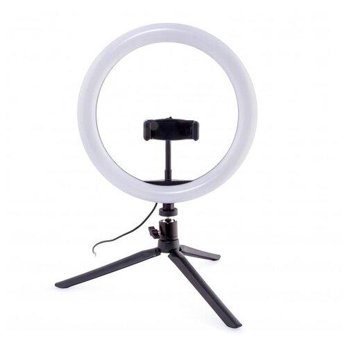 Фото - Осветитель Rekam RL-26 LED Table Kit, для смартфона, 11 Вт, 3000 / 5800 К штатив rekam rl 20 led table kit настольный черный
