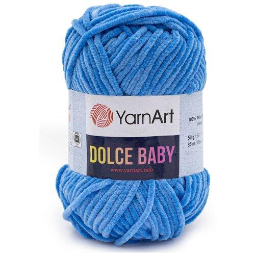 Фото - Пряжа YarnArt 'Dolce Baby' 50гр 85м (100% микрополиэстер) (777 синий), 5 мотков пряжа yarnart baby 50гр 150м 100% акрил 1182 коричневый 5 мотков