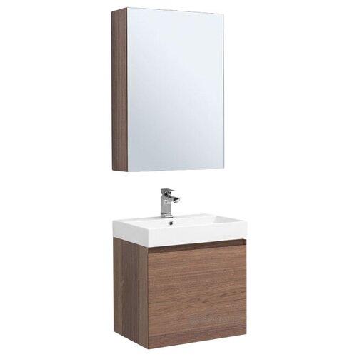 Фото - Aquanet Комплект мебели Aquanet Нью-Йорк 60 орех зеркальный шкаф aquanet нью йорк 70 орех 203952