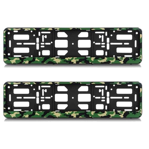 Комплект рамок-книжек номерного знака АЕР, камуфляж амеба черные, 2 шт.