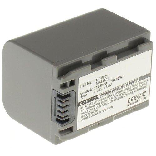 Фото - Аккумулятор iBatt iB-B1-F281 1360mAh для Sony NP-FP50, NP-FP30, NP-FP60, NP-FP90, NP-FP71, NP-FP91, NP-FP70, усиленный аккумулятор для видеокамеры sony np fp90 np fp91