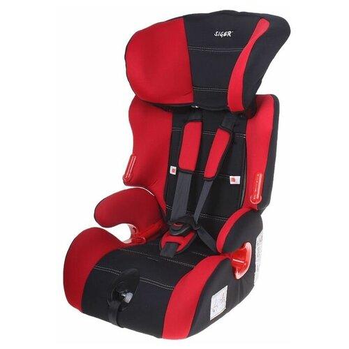 Siger Автокресло-бустер «Космо», группа 1-2-3, цвет красный автокресло colibri группа 0 цвет красный