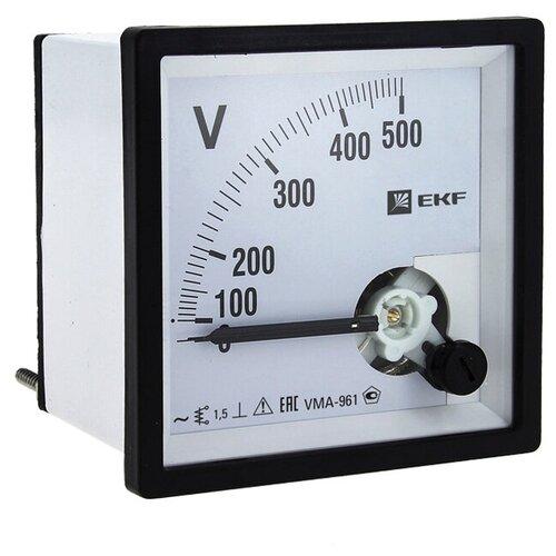 VMA-961 аналоговый на панель (96х96) квадратный вырез 300В прямое подкл. EKF vma-961-300