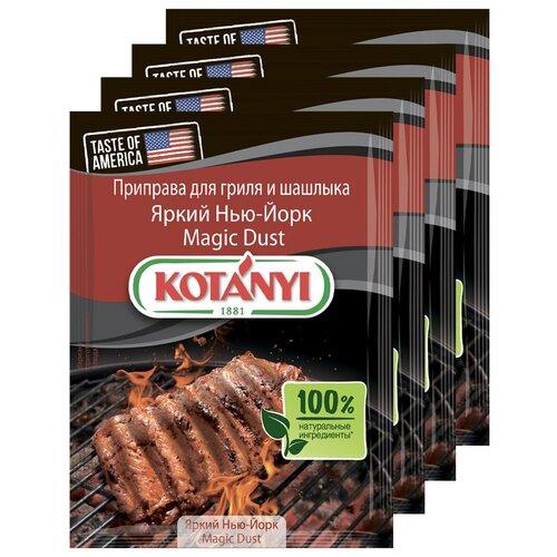 Приправа для гриля и шашлыка Яркий Нью-Йорк Magic Dust KOTANYI, пакет 20г (x4) приправа для чесночного соуса kotanyi пакет 13г x4