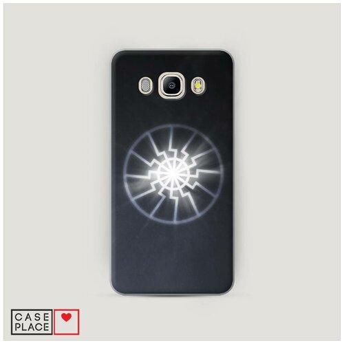 Чехол Пластиковый Samsung Galaxy J7 2016 Черное солнце