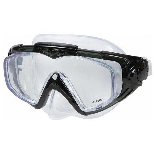 Фото - Маска для плавания Silicone Aqua Pro Mask черная, от 14 лет набор для плавания intex aqua pro серый