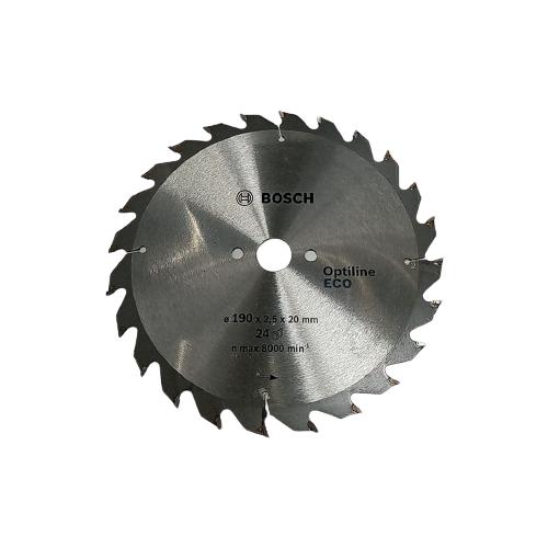 Пильный диск BOSCH Optiline ECO 190*20/16 мм 24 диск пильный bosch eco wood 190 ммx20 мм 48зуб 2608644378