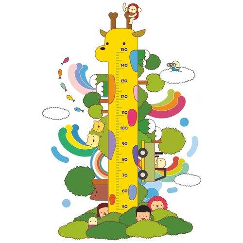 Наклейка Ростомер Woozzee Жираф в джунглях NDS-914-0906