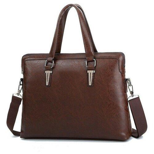 Сумка мужская (портфель) темно-коричневая