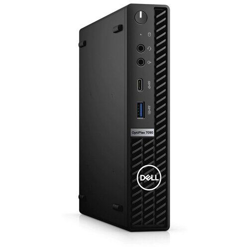 Настольный компьютер DELL OptiPlex 7090 Micro (7090-3343) Slim-Desktop/Intel Core i7-10700T/16 ГБ/512 ГБ SSD/AMD Radeon RX 640/Windows 10 Pro чepный