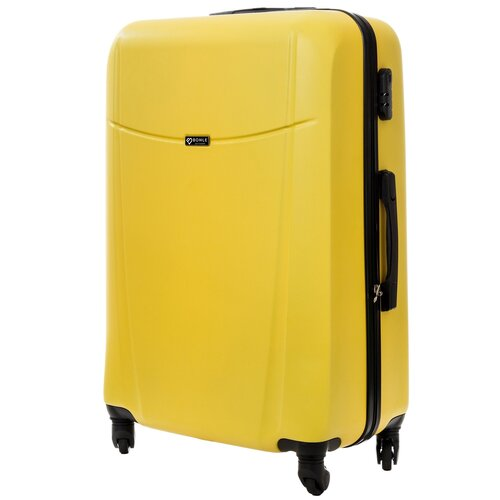 чемодан bonle премиум abs пластик салатовый размер s 55 см 37 л Чемодан Bonle, премиум ABS-пластик, Желтый, размер L, 75,5 см, 91 л
