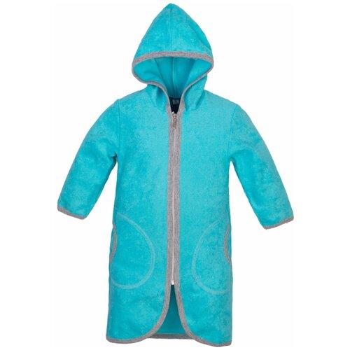 Купить Халат для мальчиков 906 Утенок размер 72 (140) цвет бирюза, Домашняя одежда