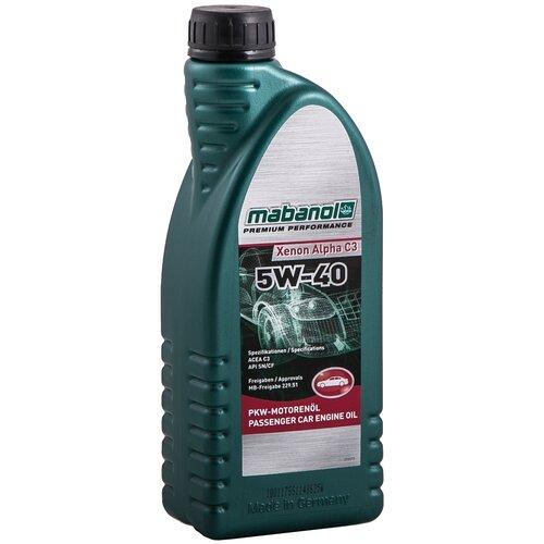 Синтетическое моторное масло Mabanol Xenon Alpha C3 5W-40 1 л