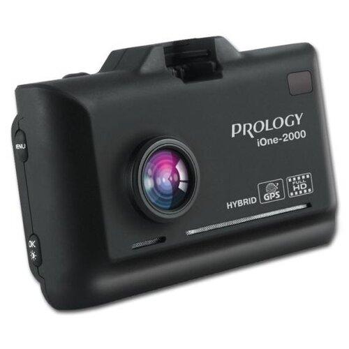 Видеорегистратор с радар-детектором Prology iOne-2000, GPS, ГЛОНАСС, черный недорого