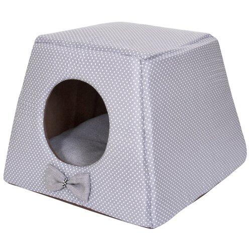 Фото - Домик для собак и кошек HutPets Multihouse 45х45х35 см Gray Peas лежак для собак и кошек hutpets minicot s 50х45 см coffee stars