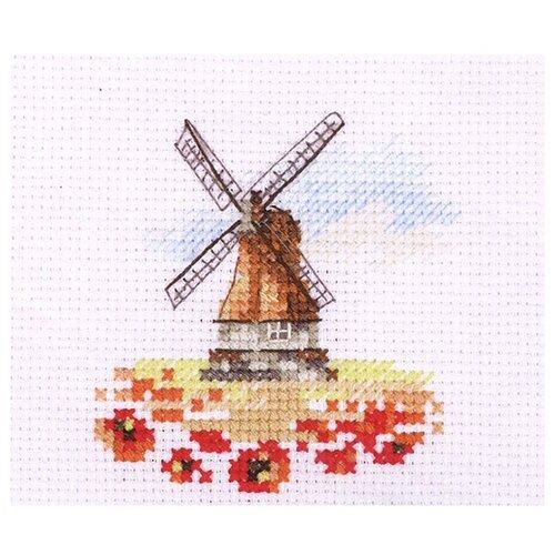 Купить 0-197 Набор для вышивания АЛИСА 'Мельница в маковом поле' 7*7см, Алиса, Наборы для вышивания