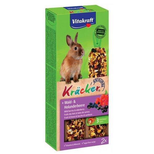 Лакомство для кроликов Vitakraft Крекеры Original лесные ягоды и бузина 112 г лакомство для кроликов vitakraft крекеры original свекла и овощи 112 г