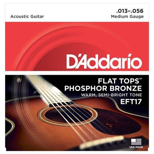 D'Addario EFT17 Набор 6 струн для гитары акустик фосфор-бронза