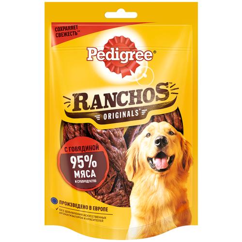 Фото - Лакомство для собак Pedigree Ranchos мясные ломтики с говядиной, 58 г pedigree pedigree ranchos лакомство для собак с говядиной 58 г