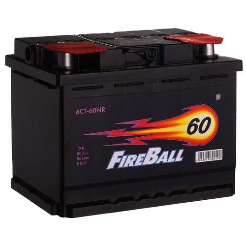 Автомобильный аккумулятор FireBall 6СТ-60NR обратная полярность