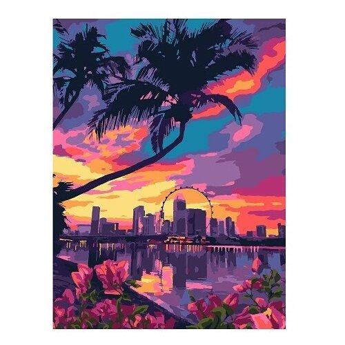 Купить LORI Раскраска по номерам Лето в Майами 28.5x38 см, Картины по номерам и контурам