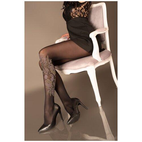 Livia Corsetti Оригинальные женские колготки Riminga с цветочным узором черный 2 размер