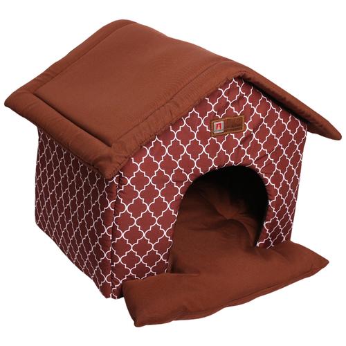 Домик для собак и кошек Зоогурман Ампир 45х40х45 см шоколадный