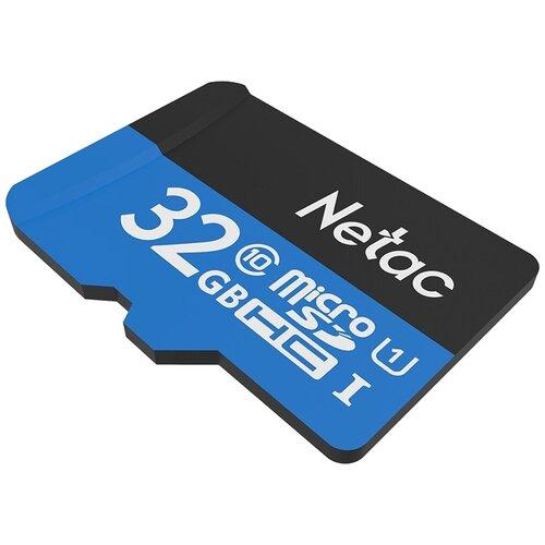 Фото - Карта памяти Netac P500 Standard 32 GB, чтение: 80 MB/s, адаптер на SD карта памяти netac p500 extreme pro 128 gb чтение 100 mb s