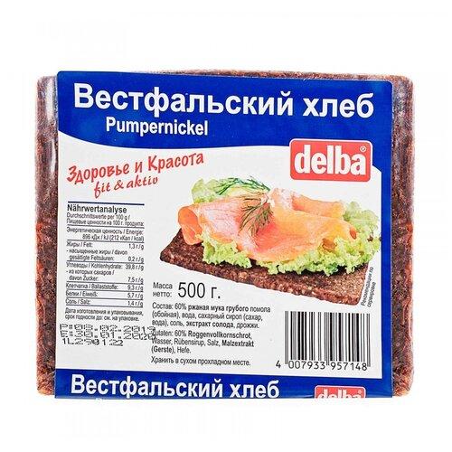 Delba Хлеб Вестфальский, ржаная мука, в нарезке, 500 г