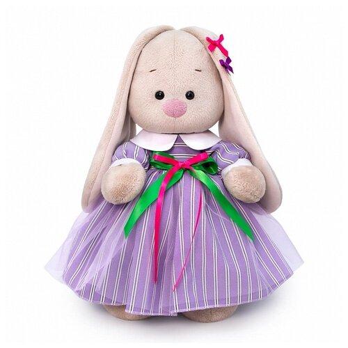 Мягкая игрушка Зайка Ми в полосатом платье 25 см мягкая игрушка зайка ми в платье в стиле кантри 25 см