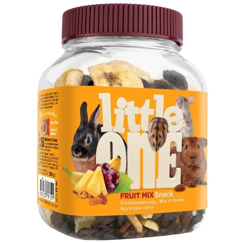Фото - Лакомство для кроликов, грызунов Little One Snack Fruit mix 200 г little one snack puffed grains лакомство для грызунов воздушные зерна 100 гр