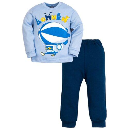 Пижама Утенок размер 92, голубой/индиго