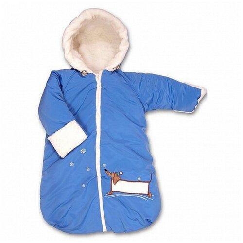 Купить Конверт Сонный гномик Такса с ручками СГ_967/1 (голубой), Сонный Гномик, Конверты и спальные мешки